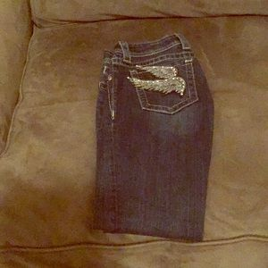Miss Me Bootcut distressed jeans size 25